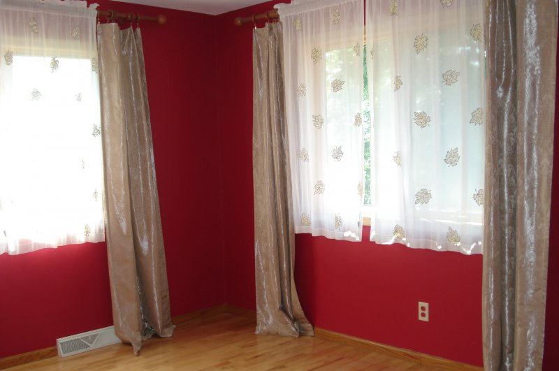Curtains To Dark Wallpaper In The